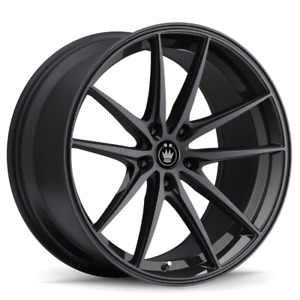19x9 5 Konig Oversteer 5x114 3 40 Gloss Black Rims set Of 4