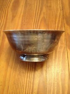 Paul Revere Reproduction Silver Plated Bowl Fb Rogers Silver Co 1883