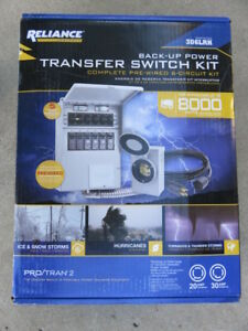 Reliance Backup Power 6 Circuit Complete Transfer Switch Kit 306 Lrk New Sealed