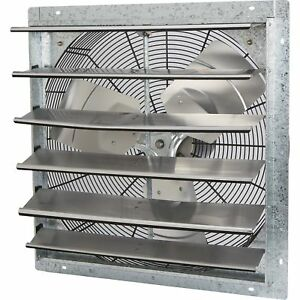 Strongway Enclosed Shutter Exhaust Fan 24in 1 4 Hp 4 300 Cfm