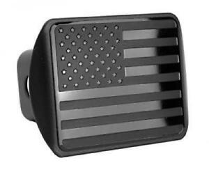 Usa Us American Stainless Steel Flag Metal Emblem On Metal Trailer Hitch Cover