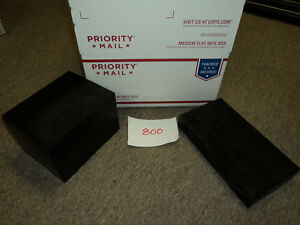 Cnc Mill Assorted Plastic Black Delrin Acetal Block And Sheet Lot 2 Pcs 800