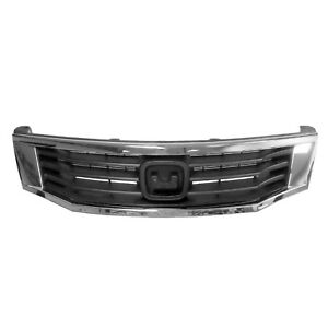 Grille And Grille Frame Fits 2008 2010 Honda Accord Sedan 104 50487x