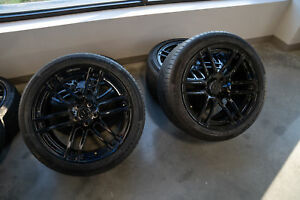 4 360 Forged 20 Black Wheels 275 40r20 Tires Great Condition