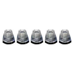 Recon 264343cl Set Of 5 Clear Lens Amber Led Cab Lights For F 250 Super Duty