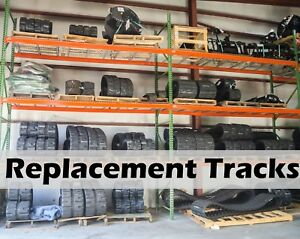 Set Of 2 Takeuchi Tl140 Replacement Tracks 450x100x48 By Dominion Multiple Locs