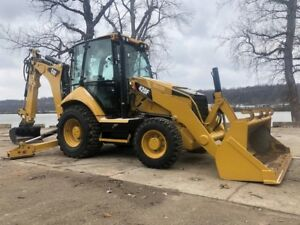 2014 Caterpillar 420f Backhoe Loader 4x4 Extend a hoe Aux Hydraulics Cab Ac