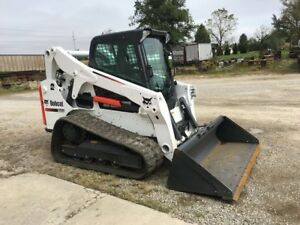2016 Bobcat T650 Rubber Track Skid Steer Loader 2 Speed High Flow 301 Hr Bob Cat
