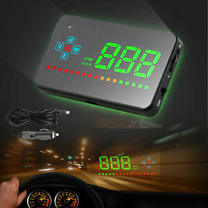 Car Digital Gps Speedometer Head Up Display Overspeed Mph Km Tired Warning Alarm