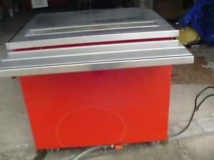 Used Color Portable Food meat Carving Work Station Restaurant Equip Model 36 Bt