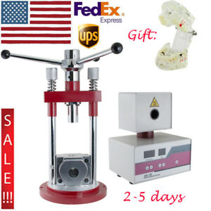 Usa Dental Manual Flexible Denture Injection Furnace Press Machine Teeth Model