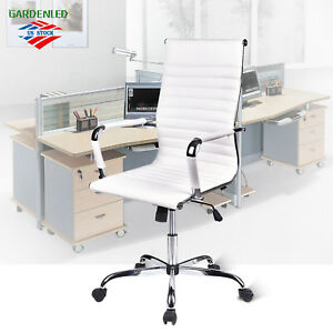 High Back Office Swivel Chair Leather Seat For Meeting Task Desk Executive Work