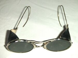Vintage Pair Of Tinted Protective Welding Goggles Ideal Steam Punk Wear