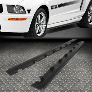 For 2010 2014 Ford Mustang Rp Style Pair Side Skirts Panel Extension Body Kit
