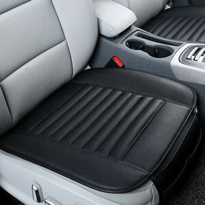 4pcs Breathable Pu Leather Bamboo Car Seat Cover Pad Mat Auto Chair Cushion
