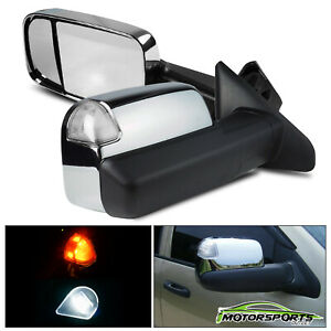 Power Heated Led Signal Towing Mirrors For 2002 2008 Dodge Ram 03 09 2500 3500