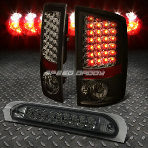 Black Housing Tinted Led Brake Tail Light 3rd Cargo Lamp For 07 09 Dodge Ram
