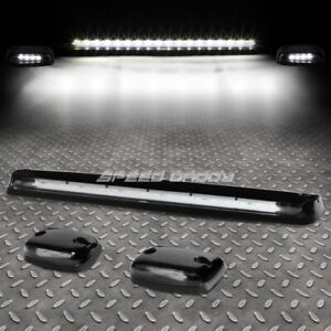 For 07 13 Silverado sierra 3pcs Black Housing White Led Cab Roof Running Light