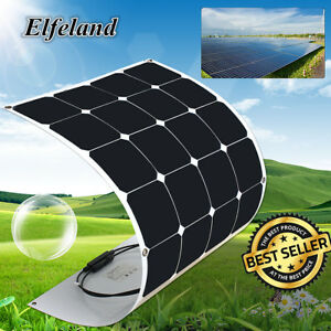 Elfeland 100w Watt 18v Sunpower Semi Flexible A class Solar Panel For Rv Boat