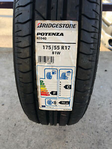 2 New 175 55 17 Bridgestone Potenza Re040 Tires