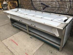 8ft Stainless Steel Steam Table 108 8 Pans Nat Gas 2 Burners W safety Valve Nsf