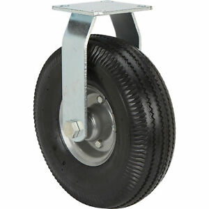 Strongway 10in Rigid Flat free Rubber Foam filled Caster 300lb Cap Sawtooth