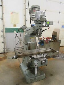Used Bridgeport Variable Speed Vertical Milling Machine W Acu rite Dro db
