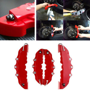 3d Diy Red 4pcs Style Car Truck Universal Disc Brake Caliper Covers Front