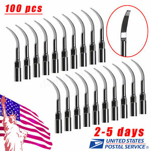 100 Dental Ultrasonic Piezo Scaler Scaling Tips Tip G2 Fit Ems Dentist Fast Gqj6