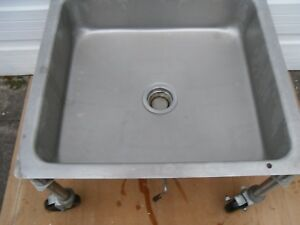 Used Seco Commercial Portable Undercounter Soak Sink With Chute Model 3373 474