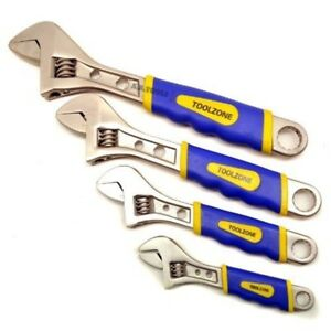 4pc Adjustable Spanner Wrench Set Covers Range 0 36mm 6 8 10 12 Soft Grip
