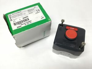 Schneider Electric Xald111h29h7 Red Pushbutton Stop Switch Control Box 1 nc