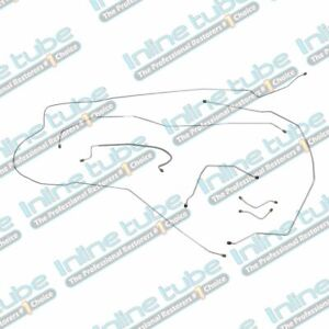 1962 64 Chevrolet Impala Complete Manual Drum Brake Line Set Kit Tubes Oe Steel