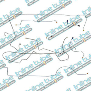 1970 Plymouth Cuda Complete Power Disc Brake Line Set Kit 1pc F To R Stainless
