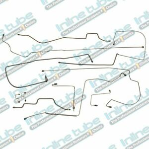 Fits 1993 1994 Jeep Wrangler Yj With Abs Complete Power Brake Line Set Kit Steel