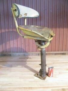 Cool Antique Rustic Excavator Back Hoe Adjustable Bar Stool Tractor Seat