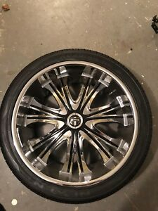 Dub Mamba Rims 9 5 X 24 Inch With Nexen Rodian Hp Tires full Set