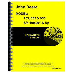 Operator s Manual For John Deere 955 Tractor