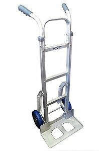 Rwm Casters Aluminum Fixed Hand Truck With Dual Grip Vinyl Handle 8 Nylon Core