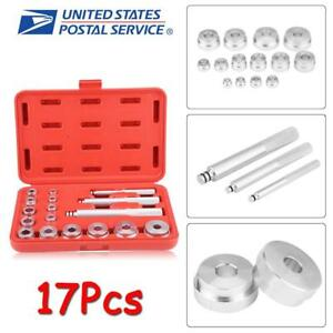 17pc Aluminium Wheel Bearing Race Seal Bush Driver Set Garage Tool Kit W Case