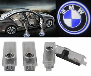 2 Pairs Car Door Led Courtesy Laser Projector Logo Ghost Shadow Lights For Bmw