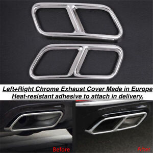 Chrome Rear Cylinder Exhaust Pipe Cover Trim Mercedes S class W221 us