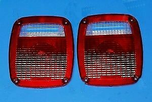 New Jeep Cj5 Cj7 Cj8 Yj Tj Wrangler Tail Light Lens Pair 1976 06