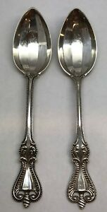 2 Antique Towle Sterling 1895 Old Colonial Teaspoons 31 6 Dwt 5 75 In
