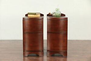 Pair Of Midcentury Modern 1960 Vintage Walnut Nightstands 30037