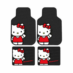 Sanrio Hello Kitty Core Car Truck Front Back All Weather Rubber Floor Mats Set