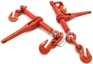 qty 2 1 4 Or 5 16 Ratchet Load Binder Chain Equipment Tie Down Rigging