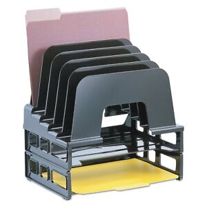 Officemate Incline Sorter 2 Trays 5 compartments Plastic 9 12 inch Wide X