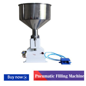 Pneumatic Filling Machine 5 50ml For Cream Shampoo Cosmetic With Foot Pedal