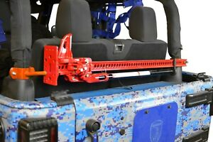 Orange High Lift Jack Mount Kit For Jeep Wrangler Jk 2007 2018 2 Door Steinjager